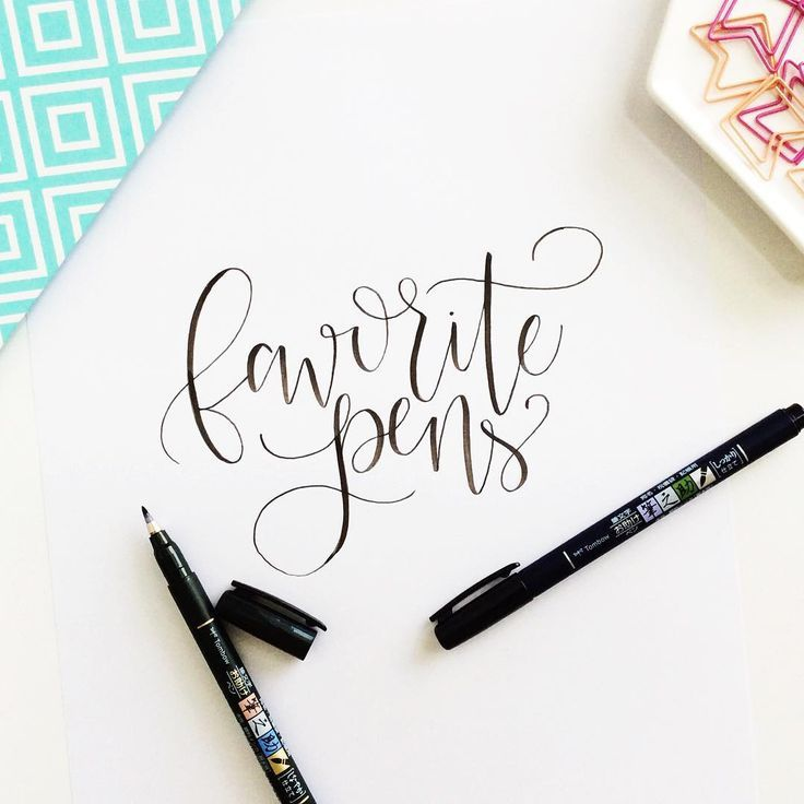 The best brush pens for lettering