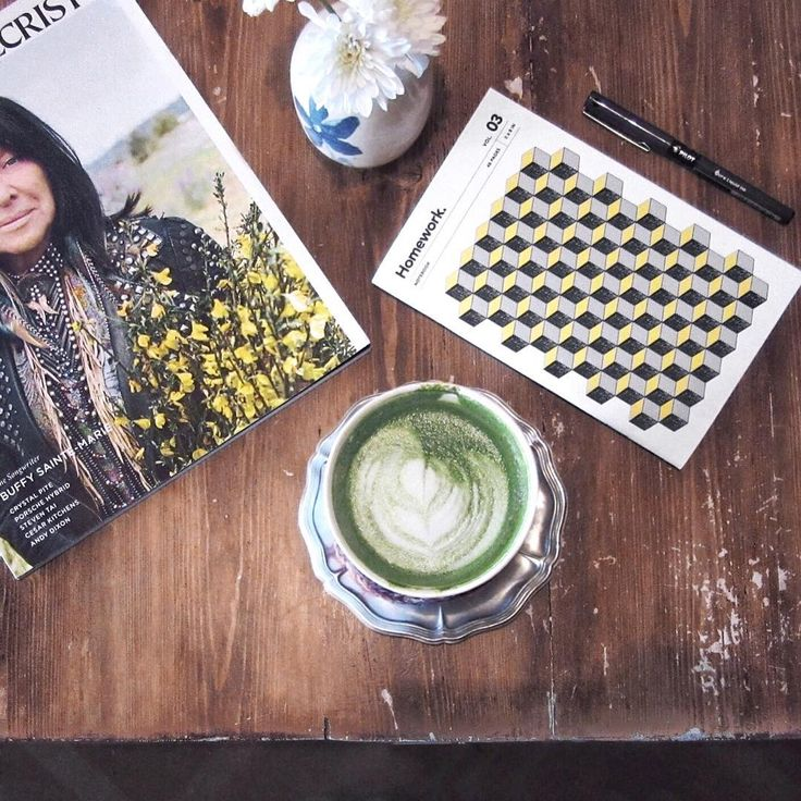 Starting the day off with a Matcha latte & Montecristo magazine.  Keep track of your day with our Vol. 3 notebook: https://vijito.ca/collections/all-products/products/homework-notebook-vol-03