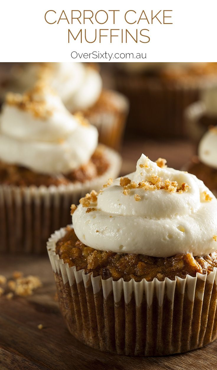 Carrot Cake Muffins - Who doesn't love carrot cake? Now you can make personal-sized one that make great on-the-go treats.
