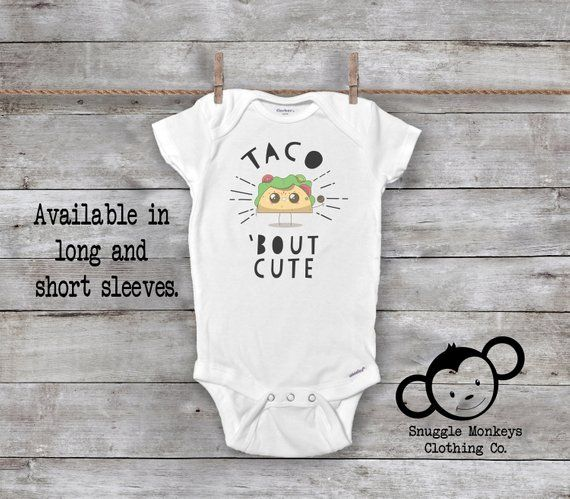 Every One Loves Tacos funny Baby Onesie Personalized Bottom Name Girl//Boy Unisex