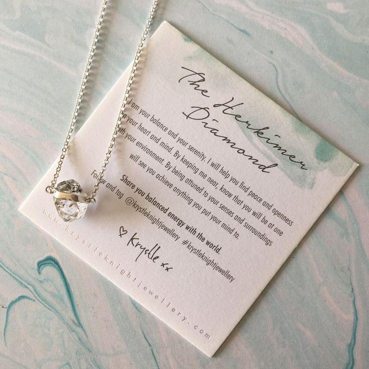 mini herkimer diamond quartz   sterling silver