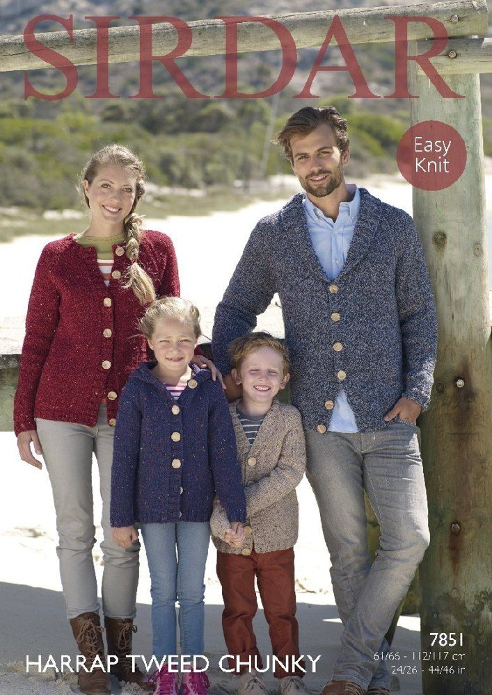 Cardigans in Sirdar Harrap Tweed Chunky - 7851 - Downloadable PDF. Discover more patterns by Sirdar at LoveKnitting. The world's largest range of knitting supplies - we stock patterns, yarn, needles and books from all of your favourite brands.