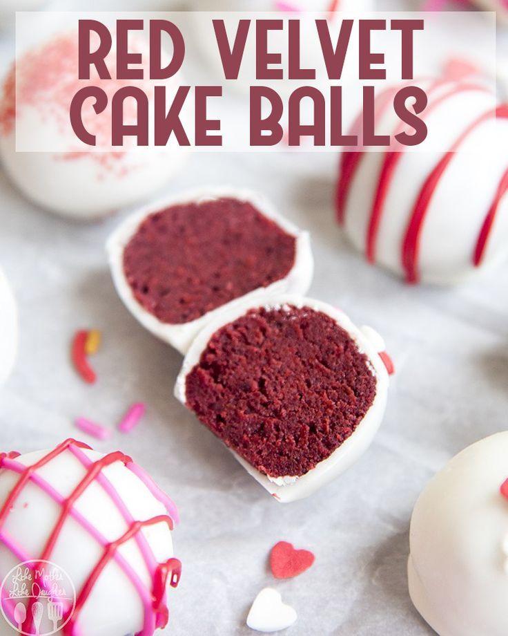 Red Velvet Cake Balls Are Easy To Make With A Red Velvet Cake Mix And Your Favorite Cream Cheese Frosting Cake Ball Recipes Red Velvet Cake Red Velvet Cake Mix
