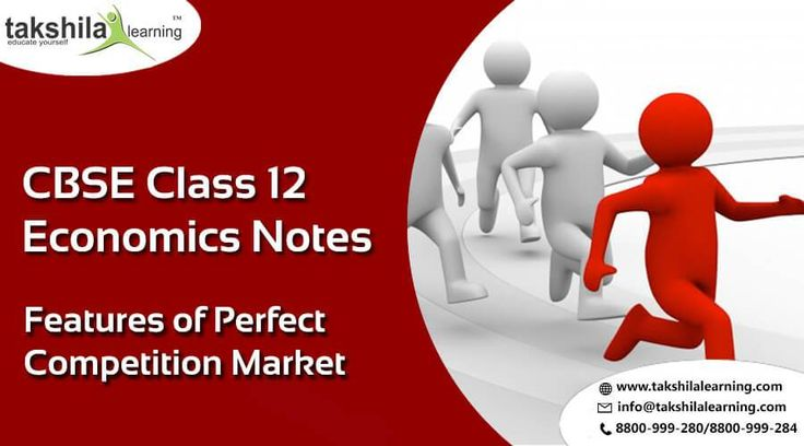 CBSE Class 12 Economics Features of Perfect Competition Market 12th Commerce Online Classes and Notes,Economics classes online,