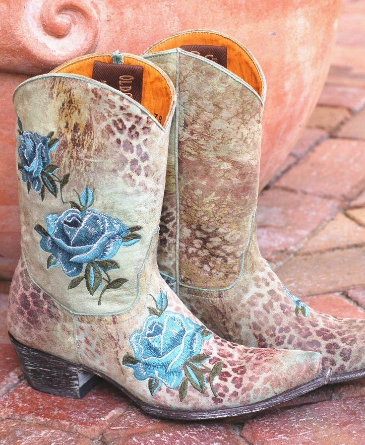 Old Gringo Turquoise Leopardito Boots from Zoey Willow