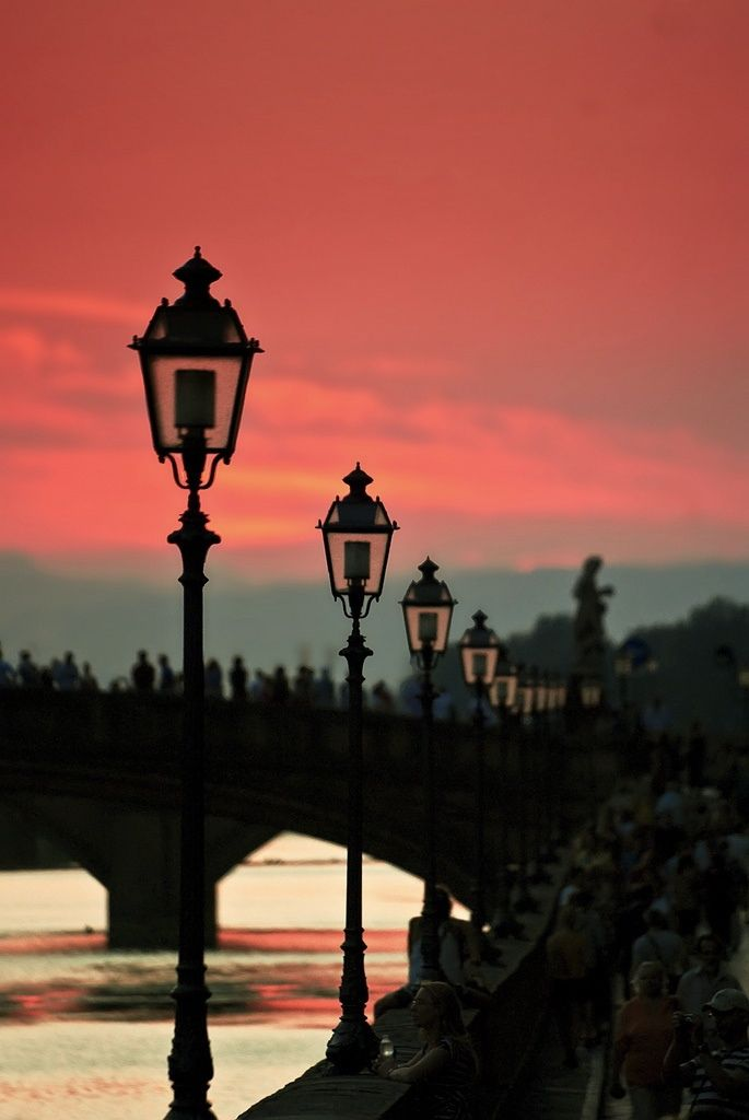 Sunset over Arno River in Florence ~Tucany, Italy