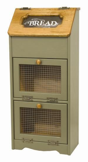 Pine Wood Bread   Vegetable Storage Cabinet - Amish Furniture 6243