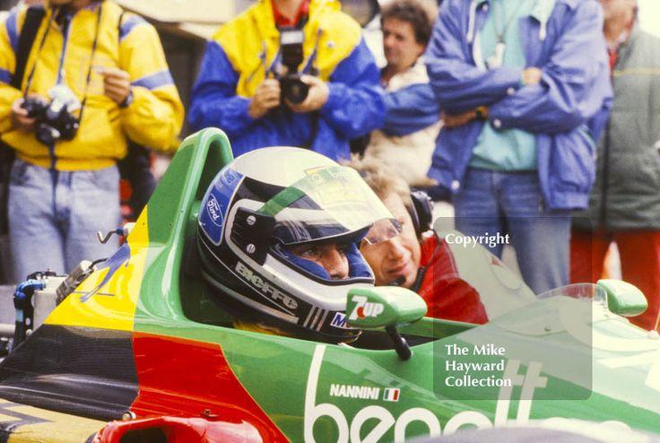 Alessandro Nannini, Minardi-Motori Moderni M187, in the pits, British Grand Prix, Silverstone, 1987. #f1 #formula1