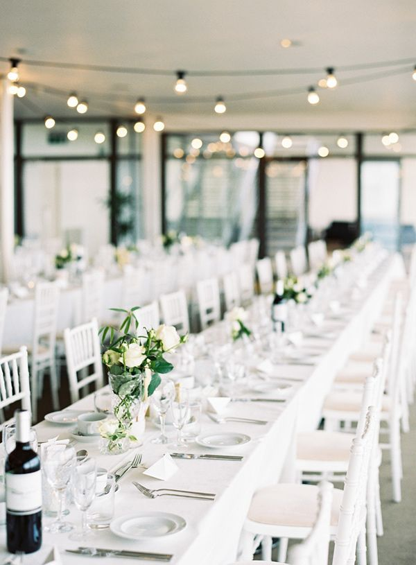 modern reception - photo by Ann-Kathrin Koch http://ruffledblog.com/british-wedding-on-the-english-seaside #weddingreception