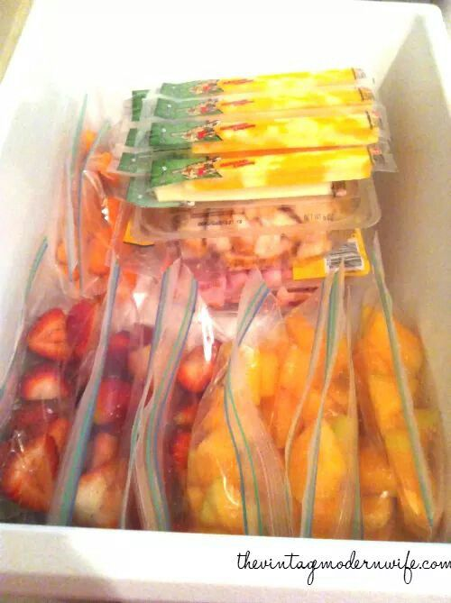 Fruits and vegetables freeze