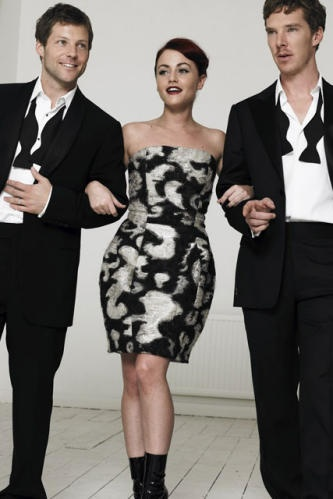 marie claire photoshoot with Jaime Winstone and Jamie Bamber. Like I care about them at all.