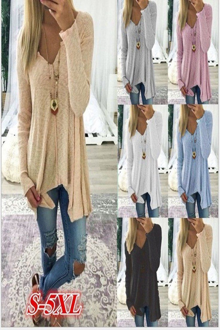 2edd88d34a93ff 7.88 GBP | UK Womens fashion Autumn winter Long sleeve knit Jumpers Cardigans  sweater tops ❤ #womens #fashion #autumn #winter #long #sleeve #knit  #jumpers ...