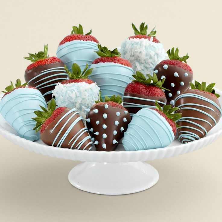 Pretty baby blue and chocolate Strawberries