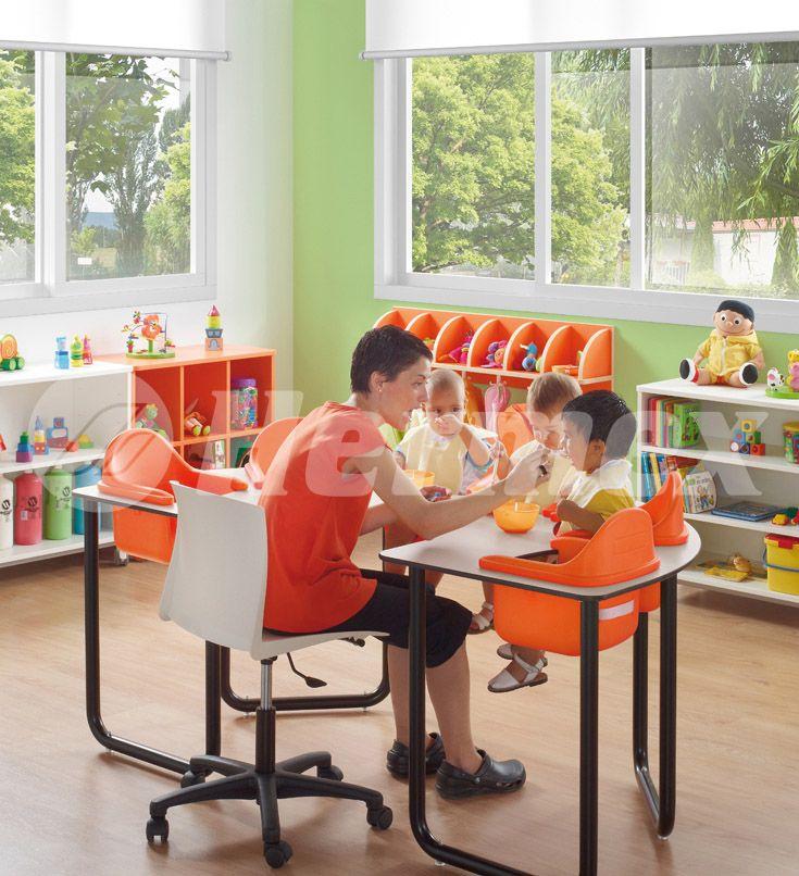 guarder a con mesa de estimulaci n para 6 bebes aulas