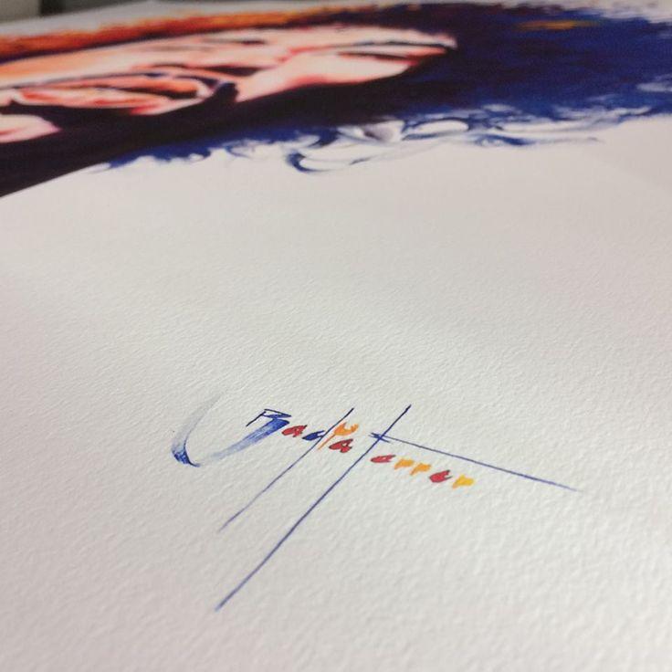 "18 hrs · Instagram ·  ""Jimi Hendrix"", de David Badia Ferrer lista para enviar. Impresión #fineart #giclée impresa en Canson Infinity Edition Etching Rag 310gsm"