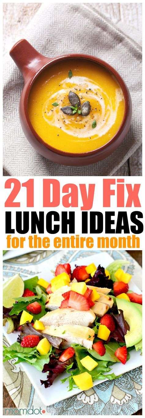 21-Day Fix Lunch Recipes, Lunch ideas for the entire month - chicken, beef, vegetarian and more