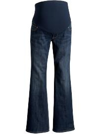 These are the BEST jeans of any maternity store!  It's got a wide leg/thigh and the panel is the best quality.