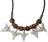 Marina's engagement token - the shark teeth necklace made by Masaki