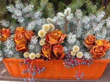 Podzimní výzdoba - Truhlík na okno