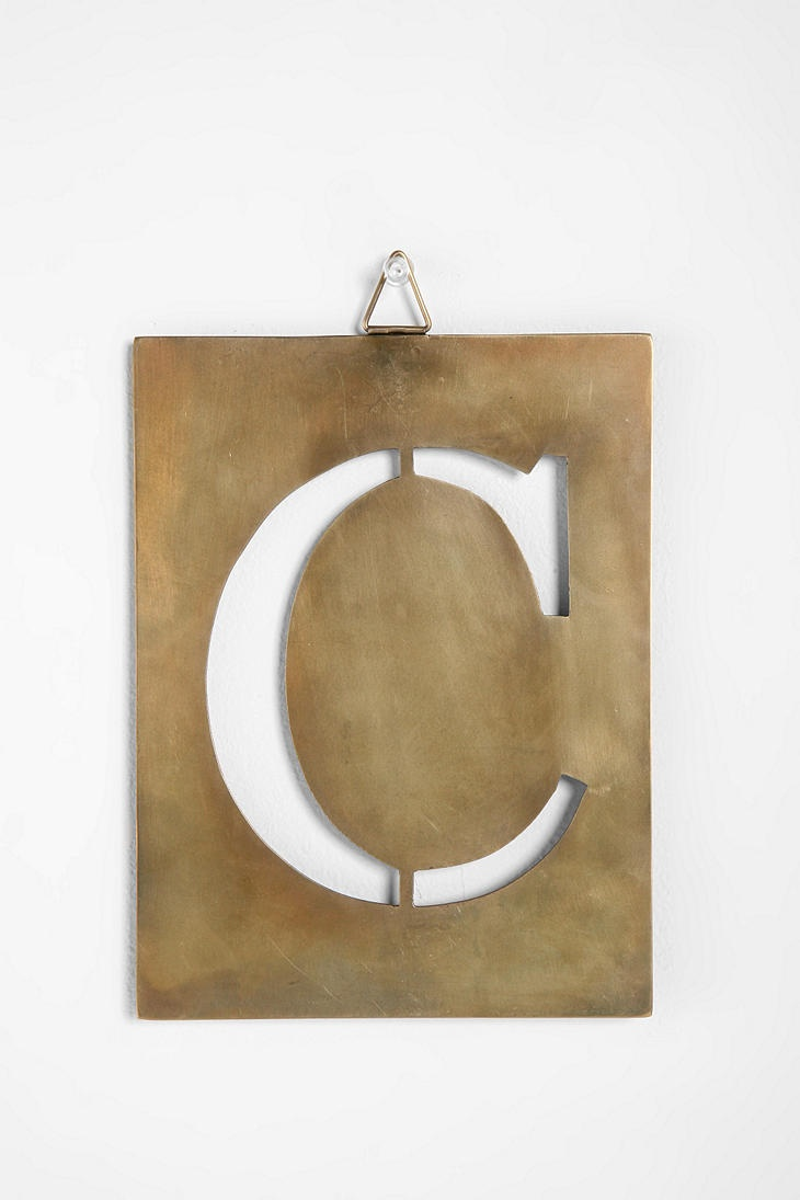 64 best letter artist images on pinterest letter alphabet and industrial stencil letters urbanoutfitters 499 per hanging what a neat decoration amipublicfo Gallery