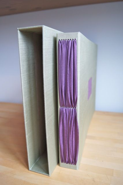 Handmade photo album by Hinged Strung Stitched. Lovely technique.