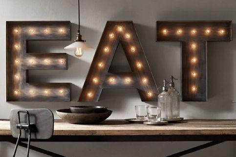 Lettere luminose per decorare
