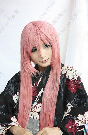 Отбеливатель. Иноуэ Orihime.647.100cm длинная розовый руж прямой мыс аниме костюм косплей парик. На складе