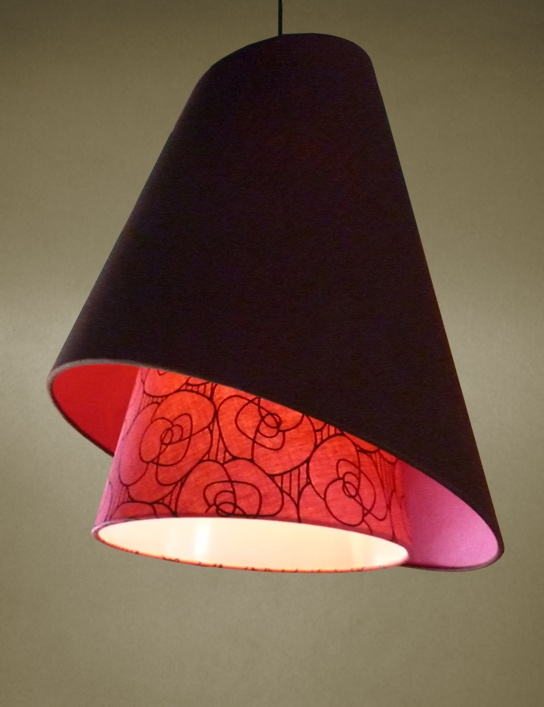 Roses Swing Double Cone Lamp Shade