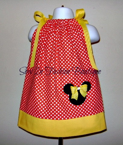 Items similar to Custom Boutique Minnie Mouse Inspired Pillowcase Dress By Sew In Fashion . 3 6 9 12 18 month on Etsy & 99 best Crochet minnie mouse images on Pinterest | Sewing ideas ... pillowsntoast.com