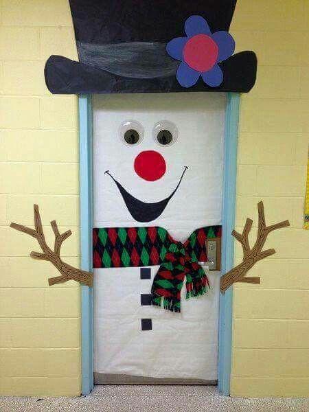 Decoración puertas #Navidad #DIY