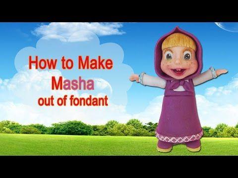How to make Masha (and the Bear) cake topper - YouTube