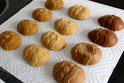 PB2 eggs like Reese's peanut butter eggs, but healthy!