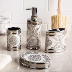 Superbe Decorate Your Bathroom Countertop With These Attractive Moda At Home Damask  Accessories. Apart From Being