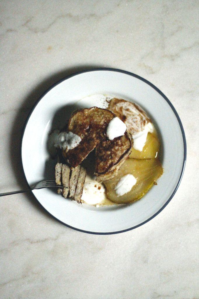 Dutch cookie pancakes | pear | gluten free | Studio93