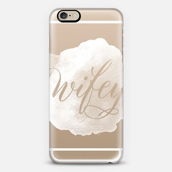 Wifey  || Watercolor, Bride, Mrs., White, Wedding - Classic Snap by Katie Clark | @casetify