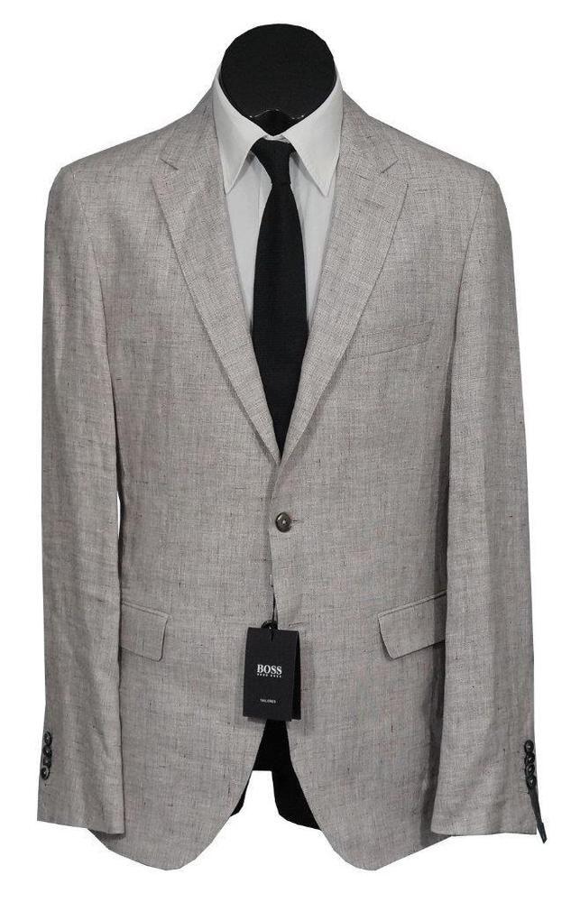 46d43624 eBay #Sponsored New Handmade Hugo Boss Tailored T-Norten/Bexter 2 Btn Linen  Mens Suit Gray 40L