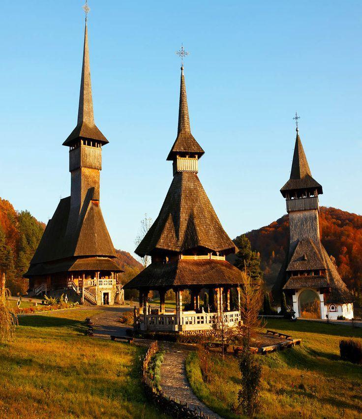 Barsana Wooden Monasteries, Maramures, Romania