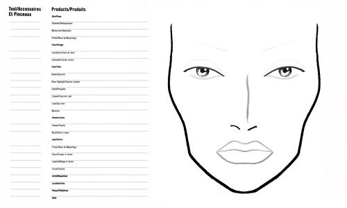 mac face chart : Tumblr smash book idea: use face chart to show my ...