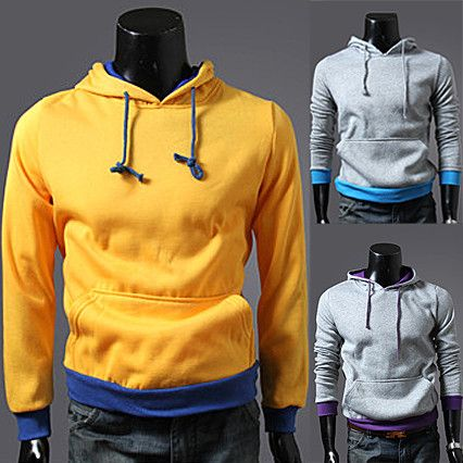 Two Tone Simple Slim Fit Pullover Hoodie . Shop Now At  http://sneakoutfitters.com/collections/new-in/products/two-tone-simple-slim-fit-pullover-hoodie-ao-yff-qf-wz002-so33