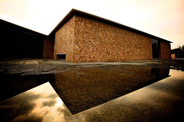 tadao ando's hansol museum in korea sits on top of a mountain