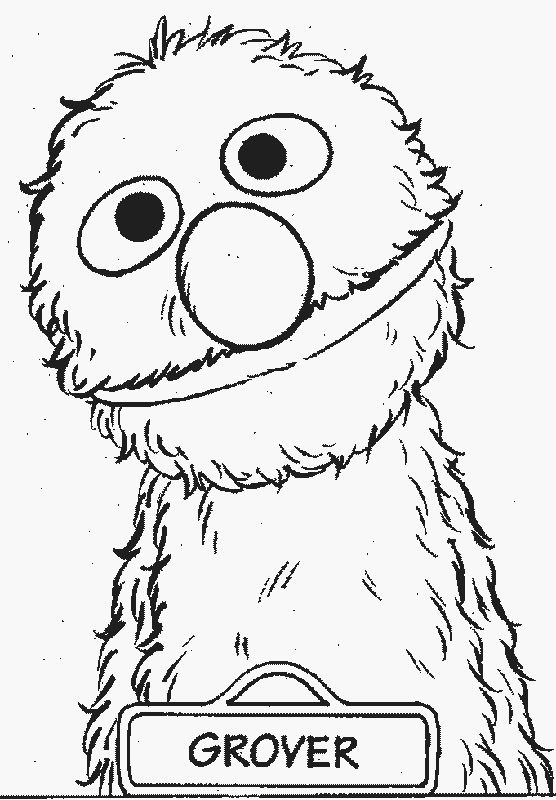 sesame street coloring pages grover