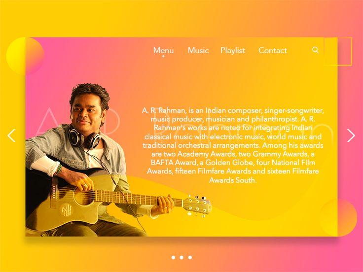 Music Web Page UI