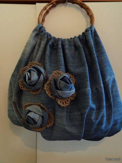Risultati immagini per borsa jeans realizza