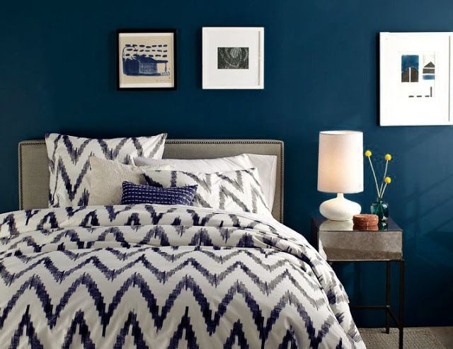 Dormitorios en azul oscuro - DecoIdeal