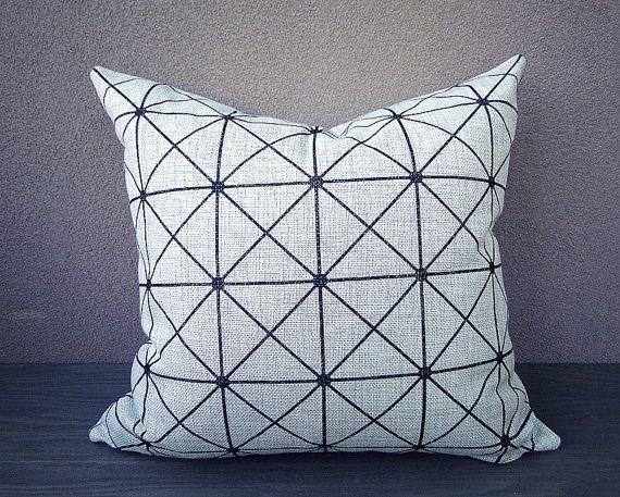 Linen pillow, Geometric Pillow Cover, white linen pillow, triangle pillow, neutral Cushion Covers, Throw Pillows