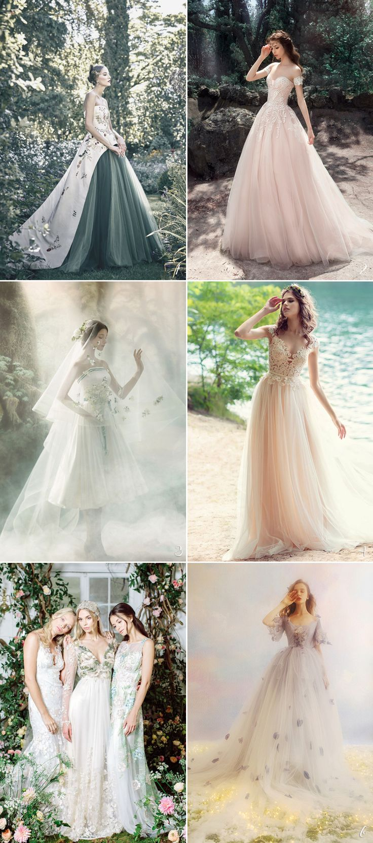 30 Perfect Gowns For Every Type of Outdoor Wedding This Summer! Whimsical Woodland Wedding