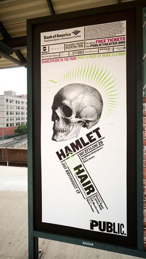 Paula Scher-Poster for the 2008 season of Shakespeare in the Park.