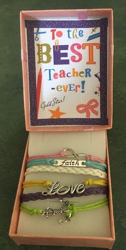 To The Best Teacher Ever Bracelet In Gift Box  | eBay