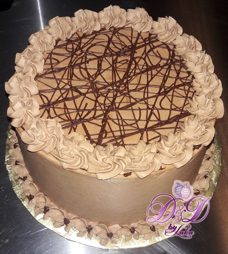 A simple chocolate cake, frosted with chocolate buttercream.  #dushi #curacao #ydk #chocolatecake #chocolate