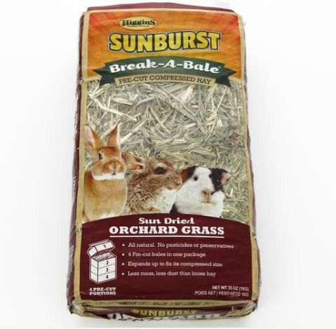 Higgins Sunburst Break-A-Bale Orchard Grass Hay 35oz